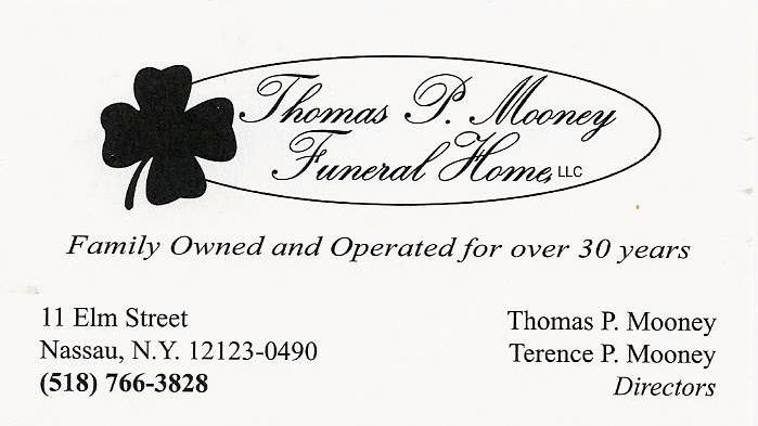 Mooney Funeral Biz Card