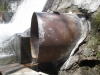 End of sluice pipe liner